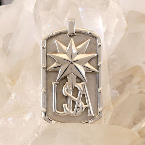 Golgotha Tag USA Sterling Silver Rose Gold Yellow Gold