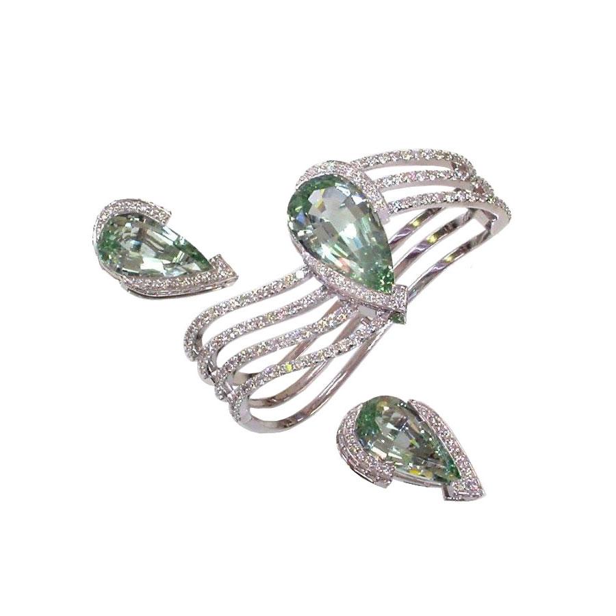 Aquamarine Suite Rings White Gold Aquamarine Diamonds