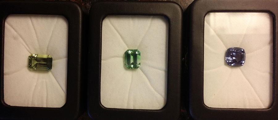Emerald Cut Tourmaline Earrings