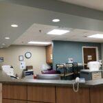 Nurses' station at the Monroe unit of Coliseum Convalescent and Rehabilitation Center.