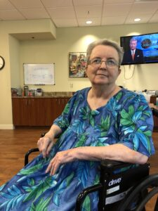 The Huntington at The Newport resident Elaine Amnott