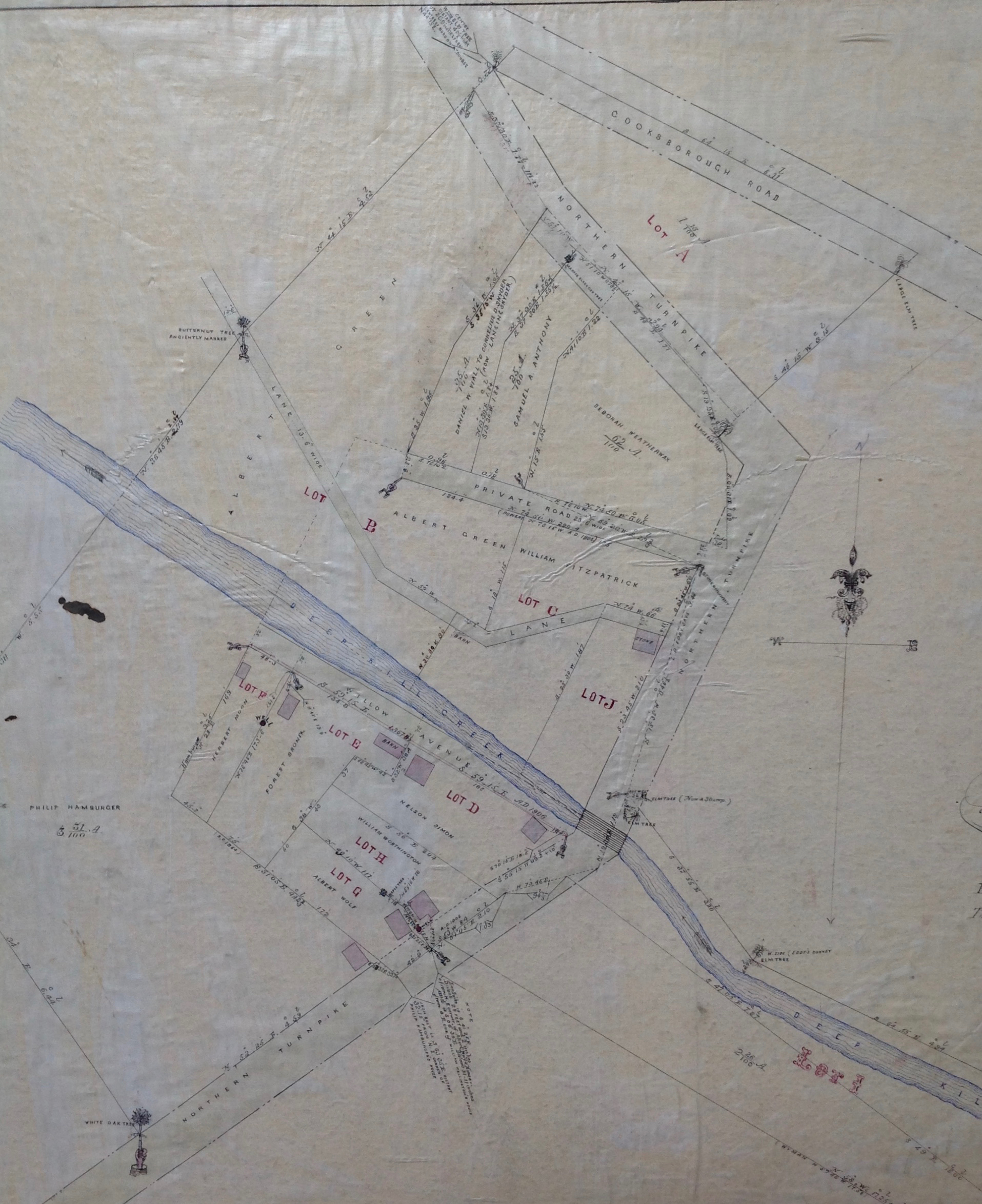 Detail of 1906 map of Grant Ferris Company property Grant's Hollow on the Deep Kill by Jeffrey Thomas