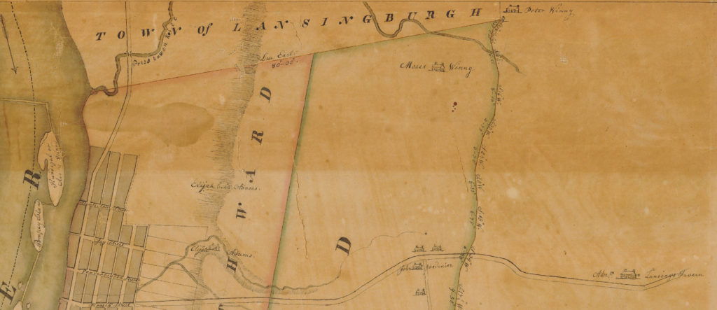 Batestown and North Troy detail from 1817 Klein map of City of Troy from New York State Archives.