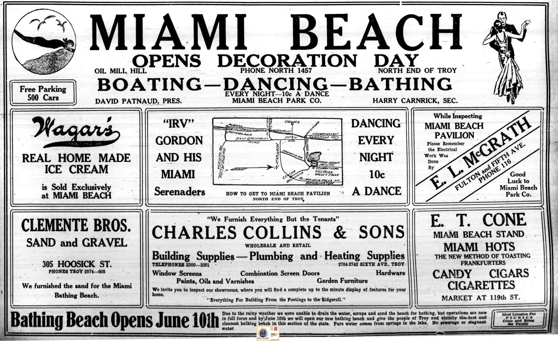 1930 Miami Beach opens Decoration Day advertisement