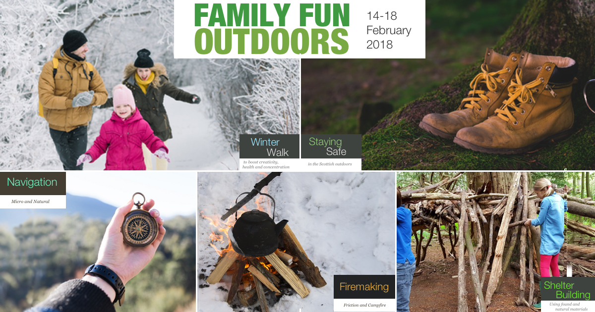 5 bushcraft and out activities during our Family Fun Outdoors Week from 14-18 February
