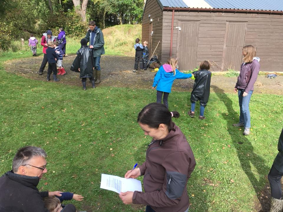 Group of people learning outdoor skills