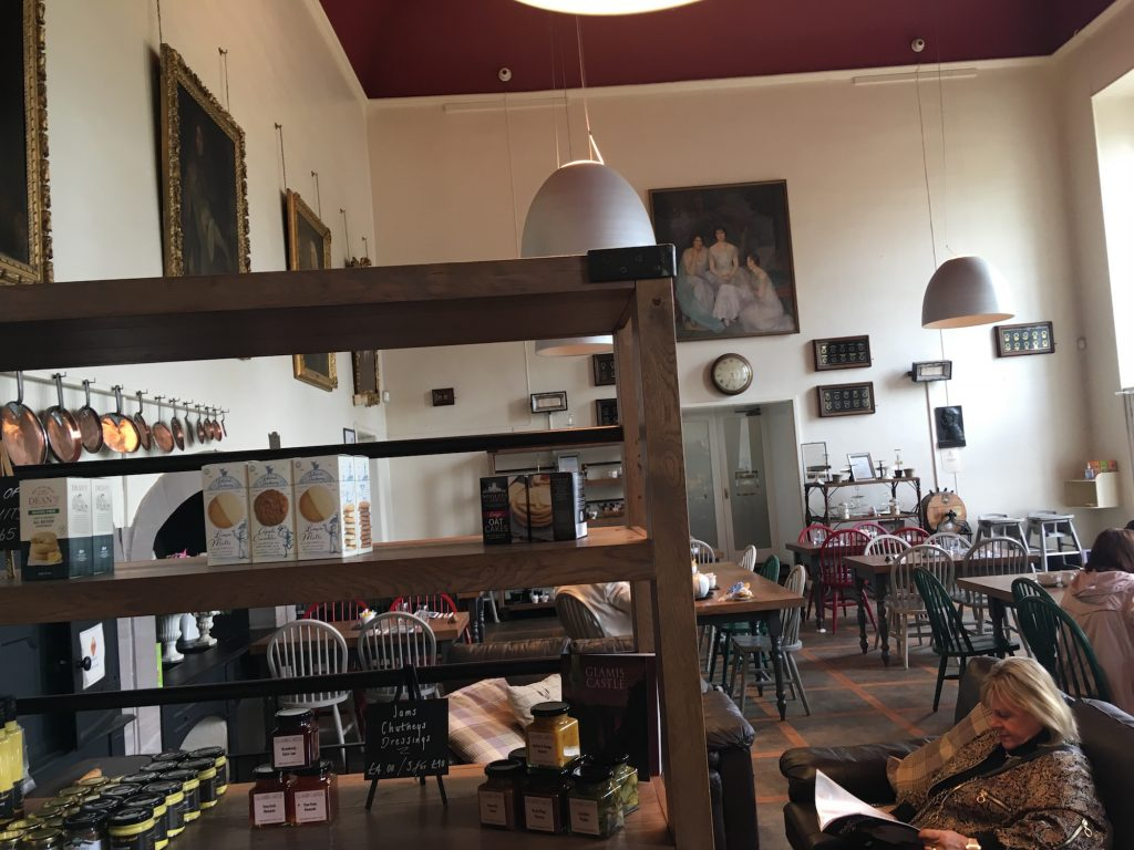 Cafe at Glamis castle