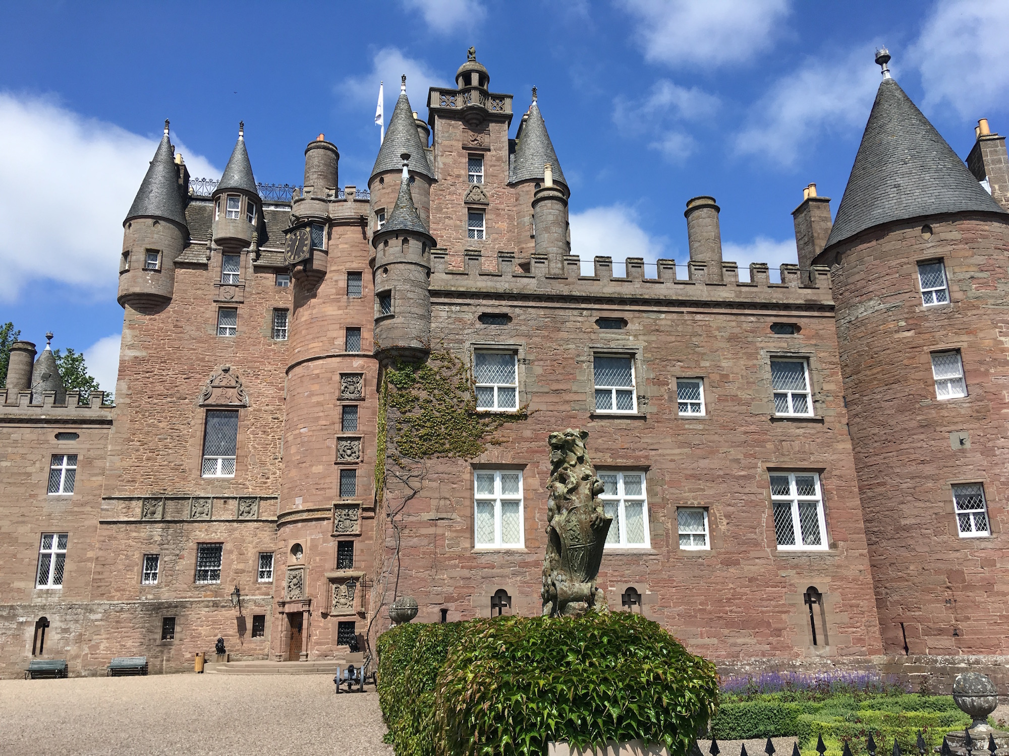 The front of Glamis Castle