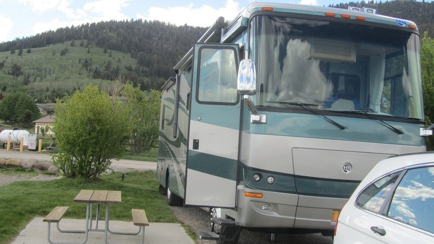 We arrive at Yellowstone Holiday RV resort, about 11 miles from the gate. Sure beats spending thousands of dollars in Forest Service Campgrounds like we did in California.