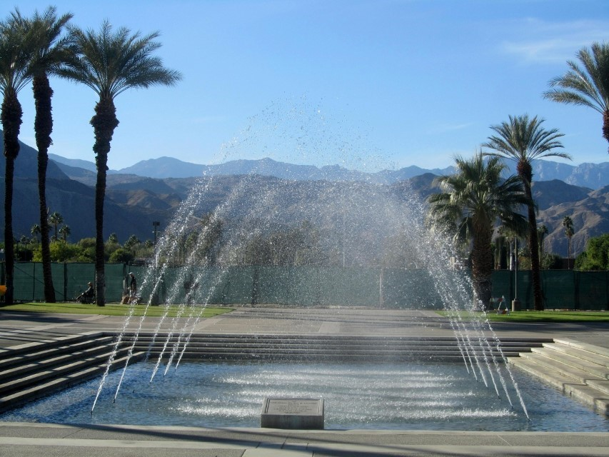 Walking back to our car, we find a neat fountain in the middle of their campus.