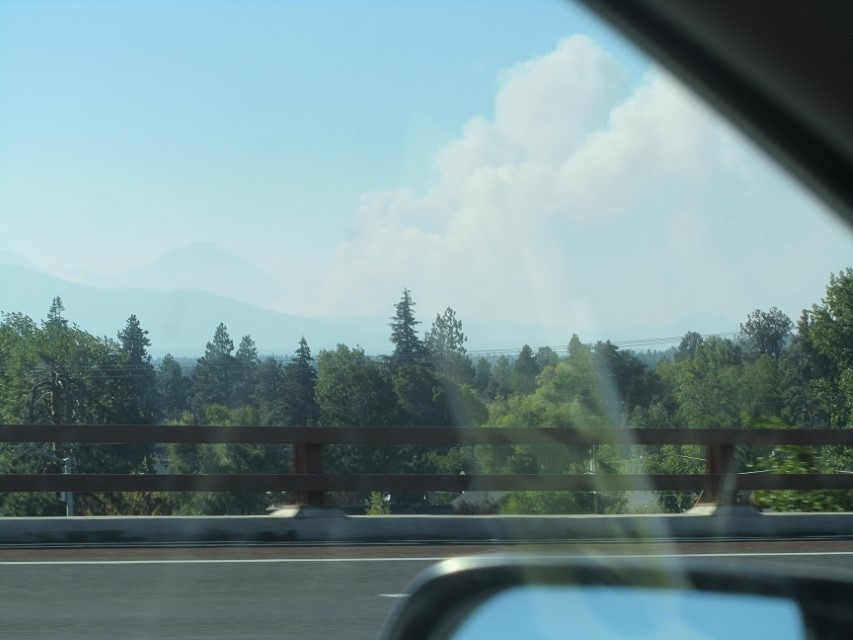 The fire between camp and Sisters Oregon seems to be growing. We are getting Nu-finish for the RV. You can buy it in our store. Hope the fire dies down.