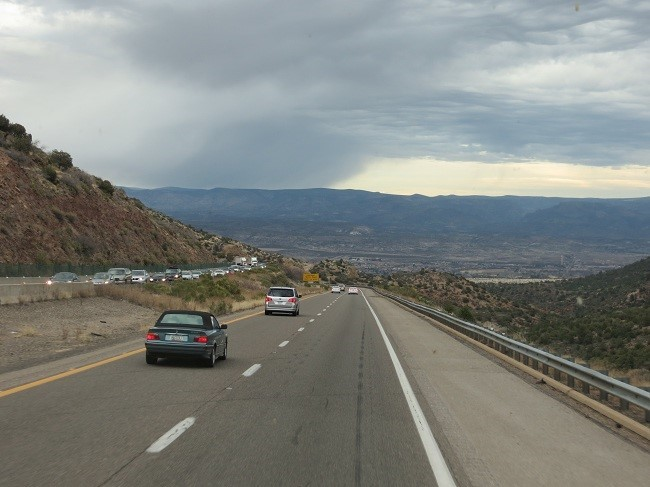 We are dropping into Verde Valley, which is our destination.