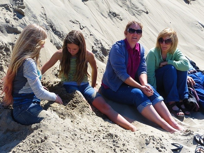 We stayed behind finding ways to efficiently pack home sand in places we did not even know we had.