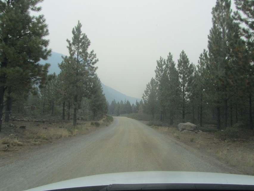 Smoke is getting really plentiful. Too much for us, we are heading out to get Ice cream at Goodies