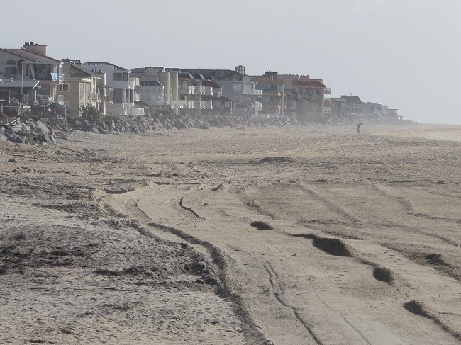 """California residents do not appear to like their beaches in the au' natural. They have to dress them with new sand every few years. They just completed Sanding Imperial Beach last October.  """"Imperial Beach – September 7 to October 4 - Timelapse Video   Before & After   Photo Album After four weeks of round-the-clock construction, sand replenishment in Imperial Beach is complete. The result: 450,000 cubic yards of new sand on more than 4,200 feet of beach. Placement began near the Cortez Avenue beach access point on September 7 and moved south toward the end of the rock wall before turning north to finish near Elder Avenue on October 4. After photo courtesy of Eddie Kisfaludy/WILDCOAST.""""   Source: Beach Sanding"""