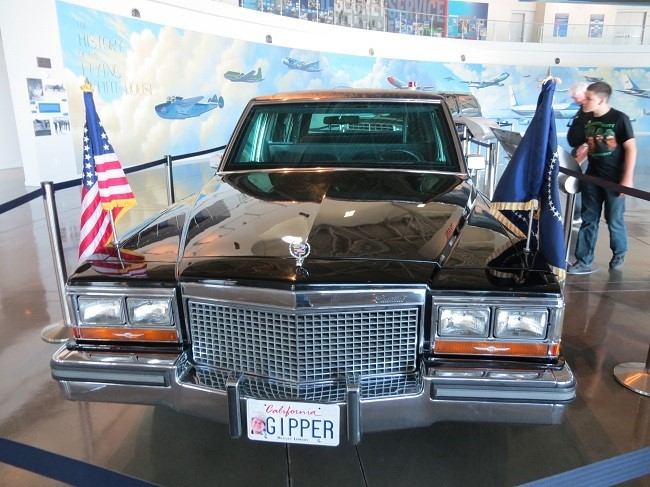 I got hold of one of these, but not this one.  This one belongs to The best US president in all my years of breathing. I can't say much about the years I was not breathing. There was a real downside to this car. Don't ever tell a bold driver to step on it! There are no seat belts, the seats were slick leather like a saddle. Every time we took a corner at a speed much greater than retail, I would find my self looking for something to grab on to, and most of the time unsuccessfully. I found there was nothing you can do, but fly across the car, and careen in to the wall on the other side. The ride in this car, is akin to the Indiana Jones Adventure in Disneyland, except in that ride your are strapped in, and you're not typically in a business suit.