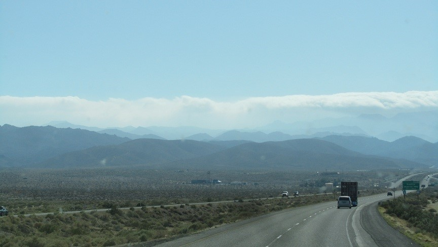 We arrive into California, in the Imperial Valley