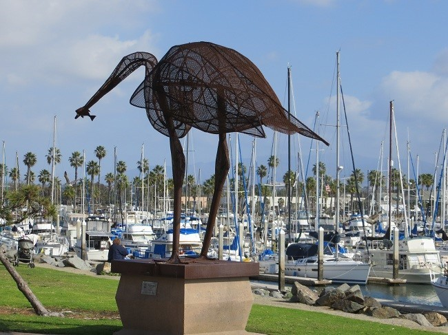 They say this guy is San Diego's best fisherman. I believe them, as we have yet to find a commercial fishing boat any where in the area.  All there are are pleasure boats and lots of them too.