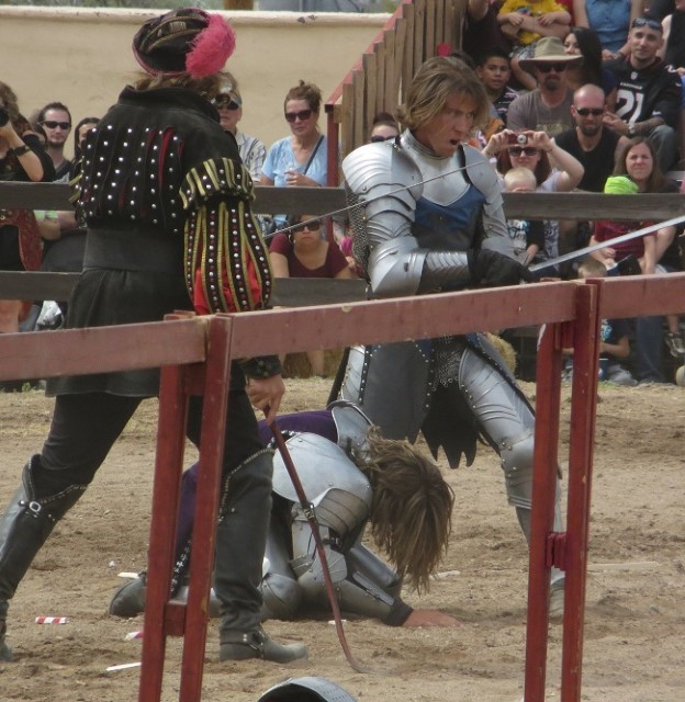 That sissy fall costs him dearly, I don't think he is being knighted