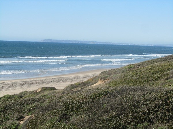 The hill on the other side of the ocean, is Cabrillo national monument where we went last year when we were here.