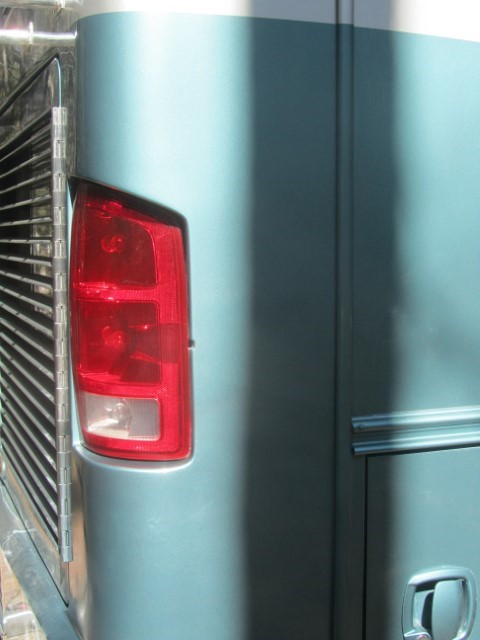 We shot three coats of clear coat 10 minutes apart, and let it dry the clear coat caused the new paint to blend perfectly. We did this panel from mid tail light, all the way to the rocker edge.
