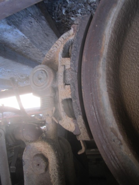 For its condition, the brakes are in great shape.