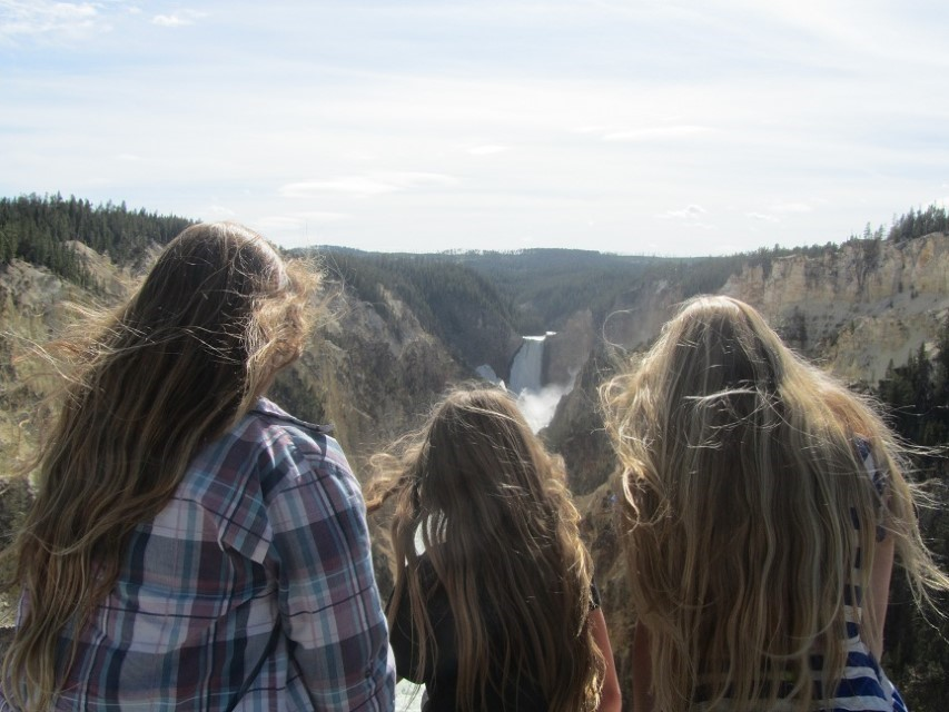 Can't drag them away from the falls