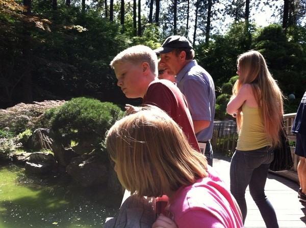 The older ones though were bigger than the younger one and won her over. Now, we visit the Japanese gardens.