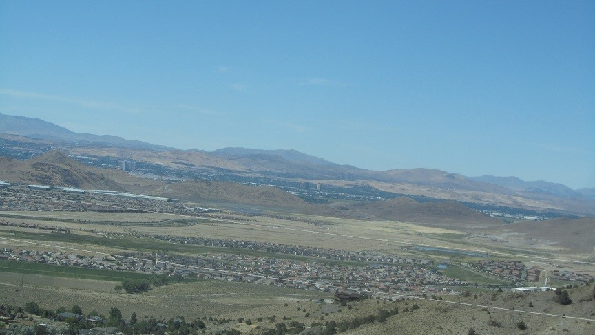 Leaving Virginia City and Looking down on Reno. Don't come to Nevada to see Virginia City, it would be a waste of fuel. If you are stuck in Reno, or Carson City and want something to do for a weekend, then go.