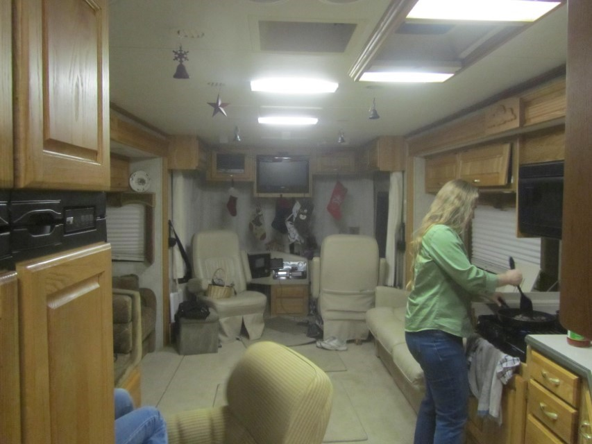 Back at home Athena cooks what used to be an old stand by until beef went up. Now Spaghetti is a treat.