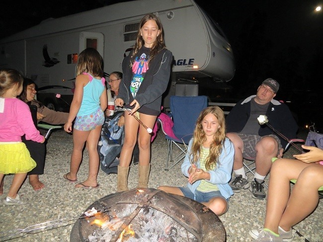 Camp fire time. I don't think everyone was pleased with the automatic flash.