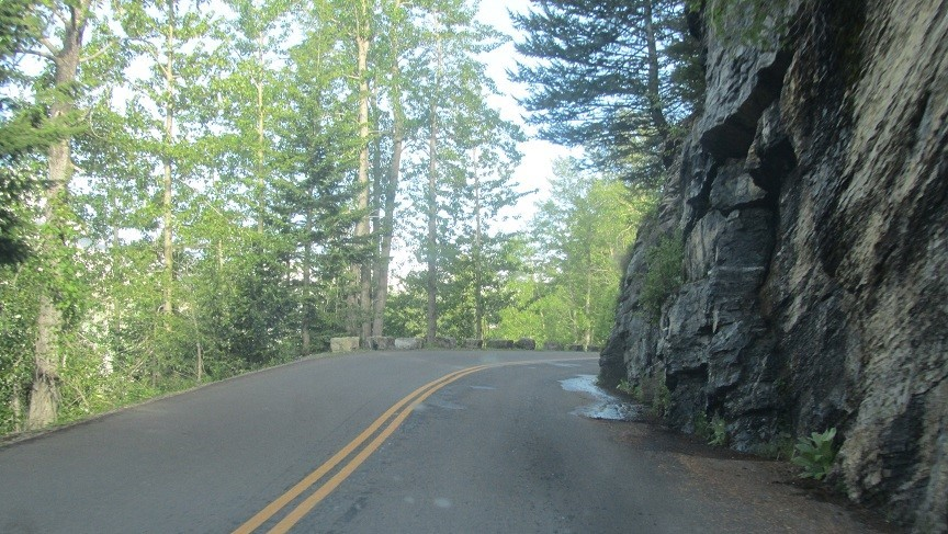 Road Narrows, Don't bring your motor coach
