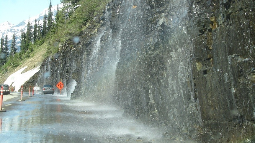 Natures car wash – Strangely, our car is still muddy?