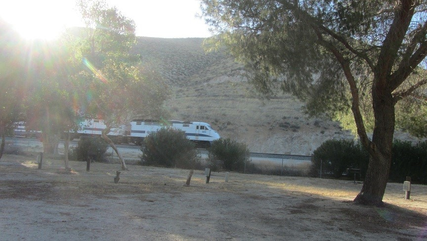 We get a great view of the high speed rail, from the front windshield of the RV.