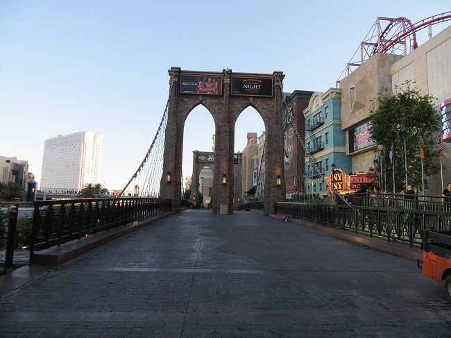 The brooklyn bridge is closed due to drought.