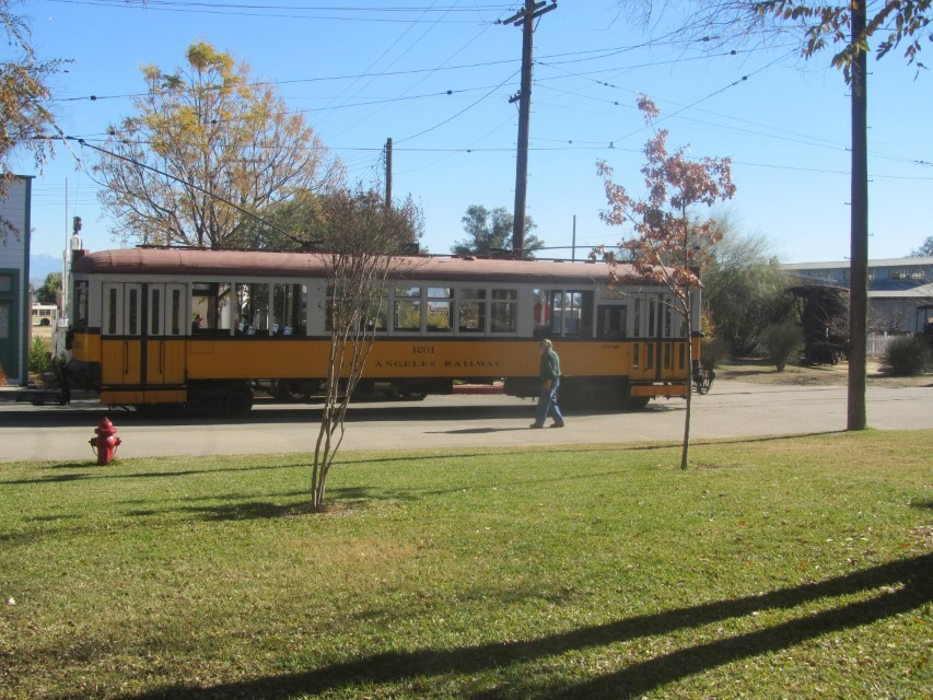 Today, they are running their street cars. You can get an all day ticket for $12.00 this help them keep the museum open.