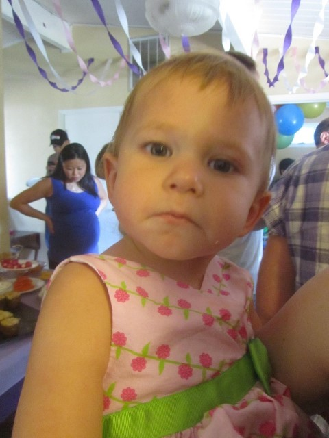 Our Other niece McKayla, wondering why in the world Uncle Darin is taking pictures of everything. I wonder the same, but she will have to get used to it.