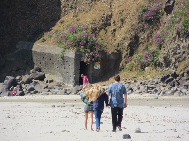 We head up the beach to check out one of the most unusual attractions that you will find on a beach anywhere.