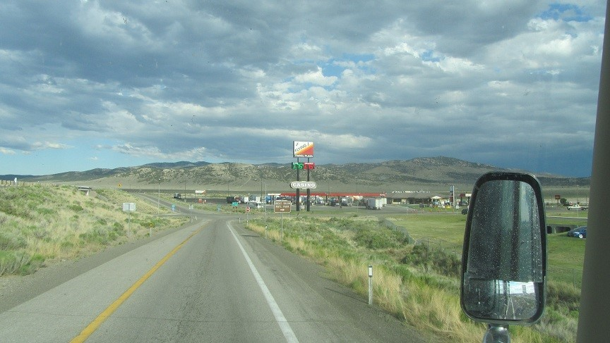 Time to take on 38 gallons of diesel in Wells Nevada. After getting fuel here, we turn North on 93.