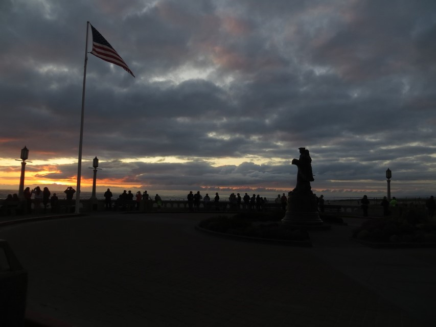 End of another day in seaside oregon tourists and sunsets
