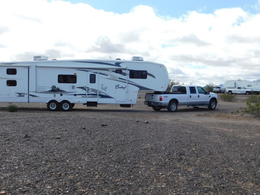 Ford F-350 and Cardinal Trailer