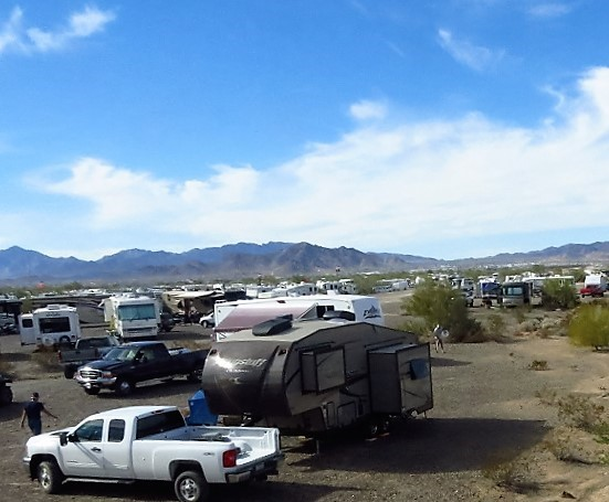 Lots of RV's Sportsman event