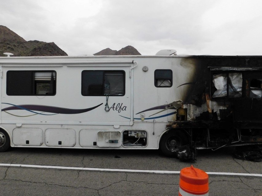 RV totaled