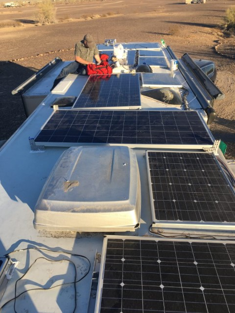 Solar is being prepped
