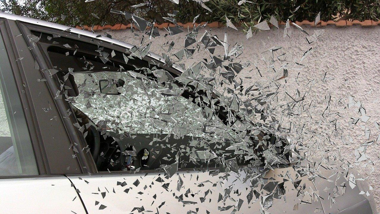car crash broken glass needing personal injury attorney