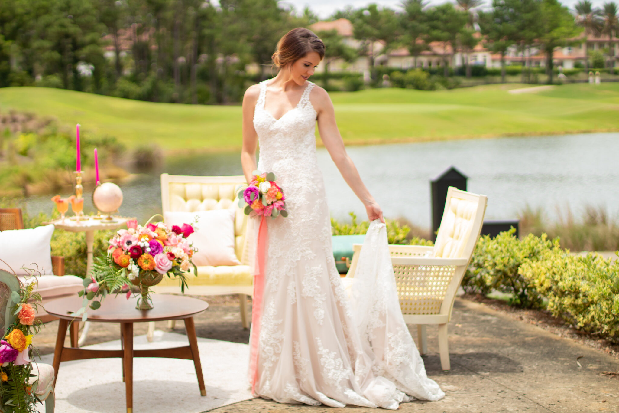 Palencia Club St Augustine wedding venue elegant bride