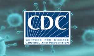 Coronavirus graphic featuring the CDC logo