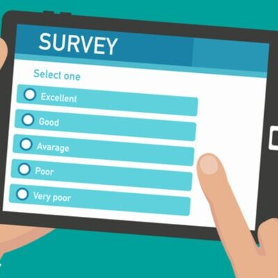 Animation of survey on tablet