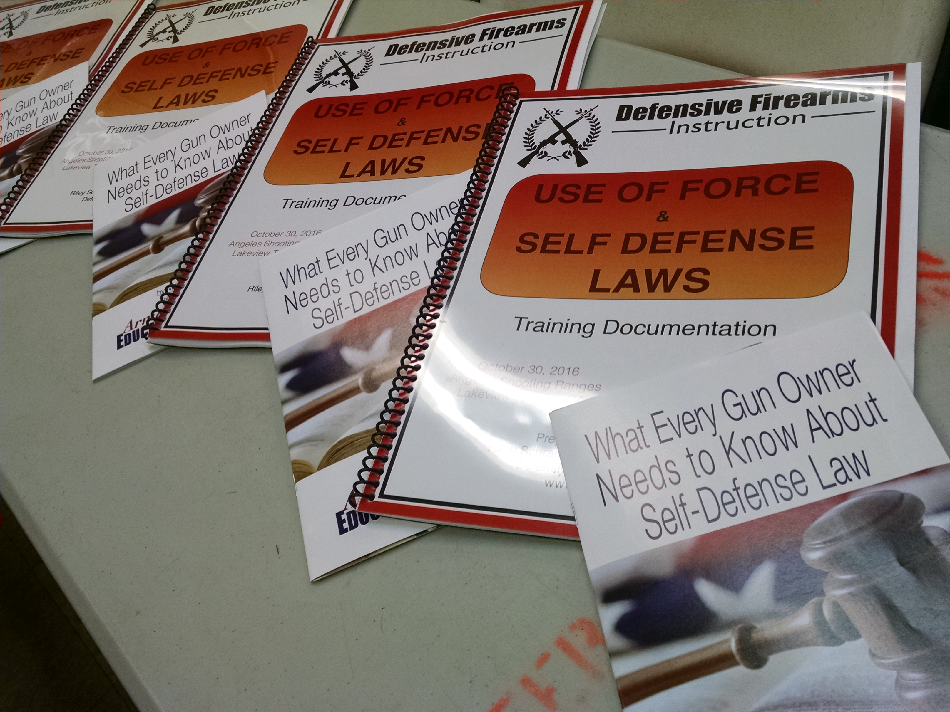 CALIFORNIA SELF DEFENSE LAWS CLASS