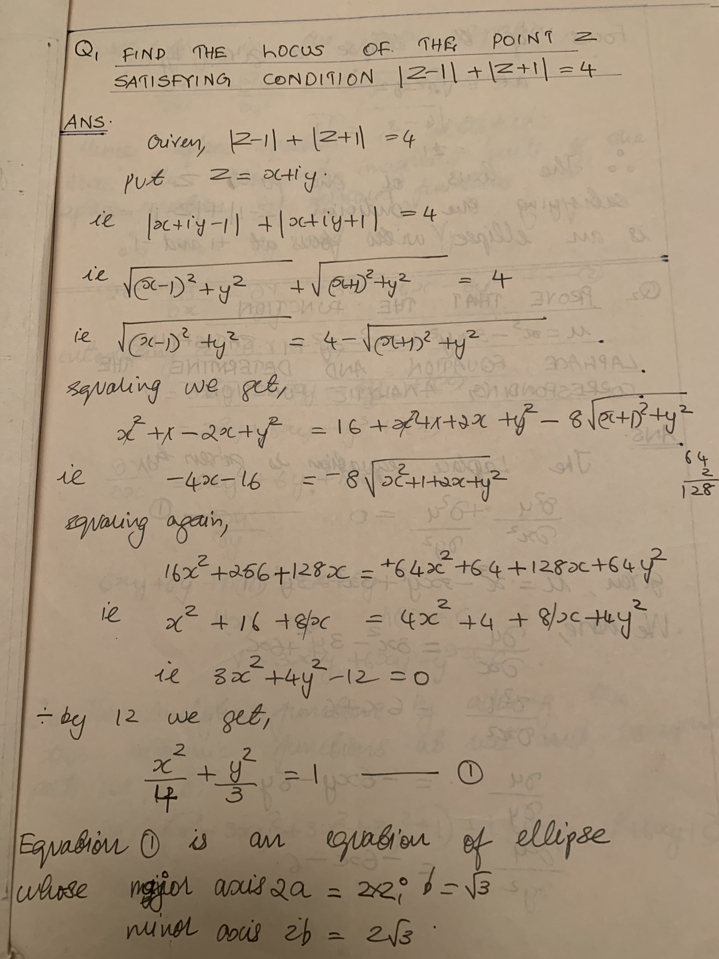 Finding Locus of a point